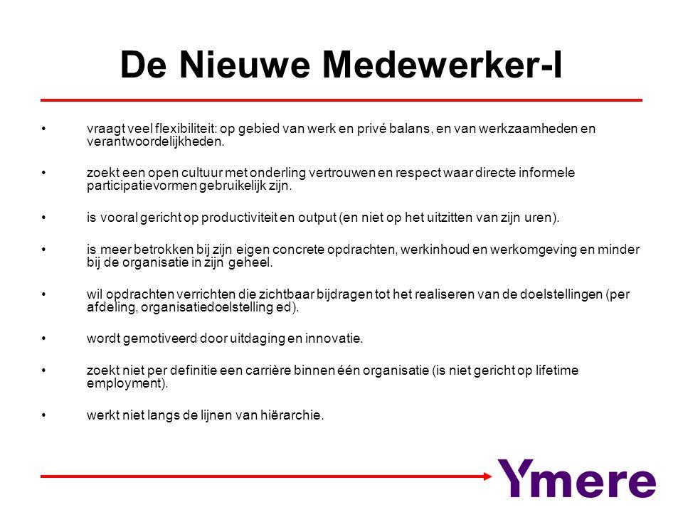 De Nieuwe Medewerker-I vraagt veel flexibiliteit: op gebied van werk en privé balans, en van werkzaamheden en verantwoordelijkheden. zoekt een open cu
