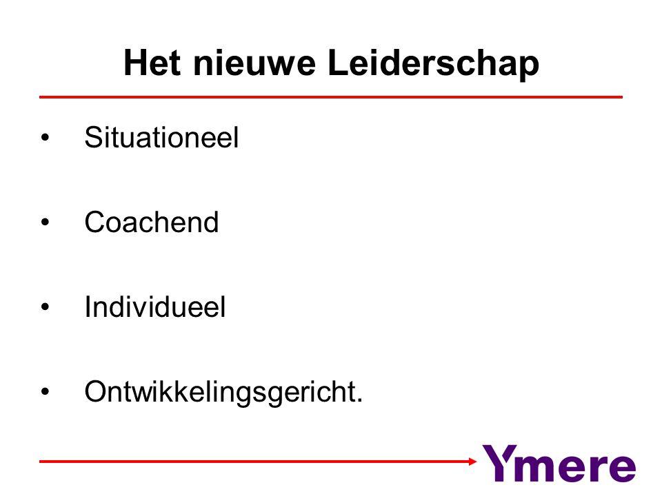 Het nieuwe Leiderschap Situationeel Coachend Individueel Ontwikkelingsgericht.