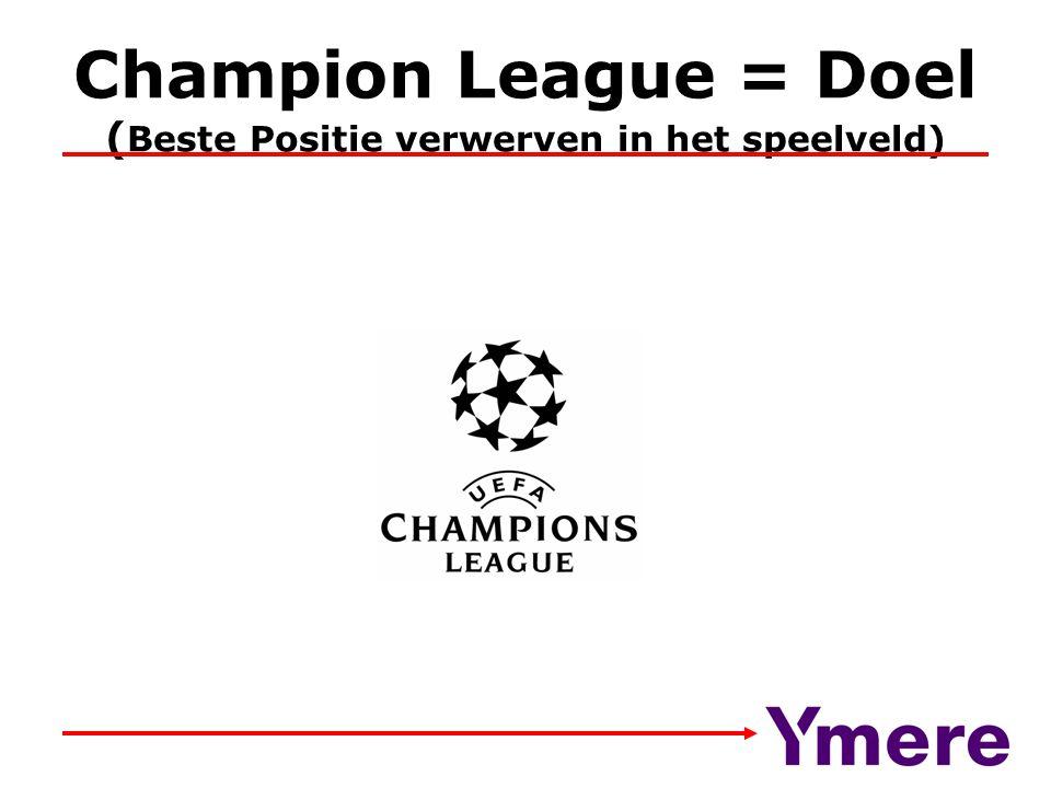 Champion League = Doel ( Beste Positie verwerven in het speelveld)