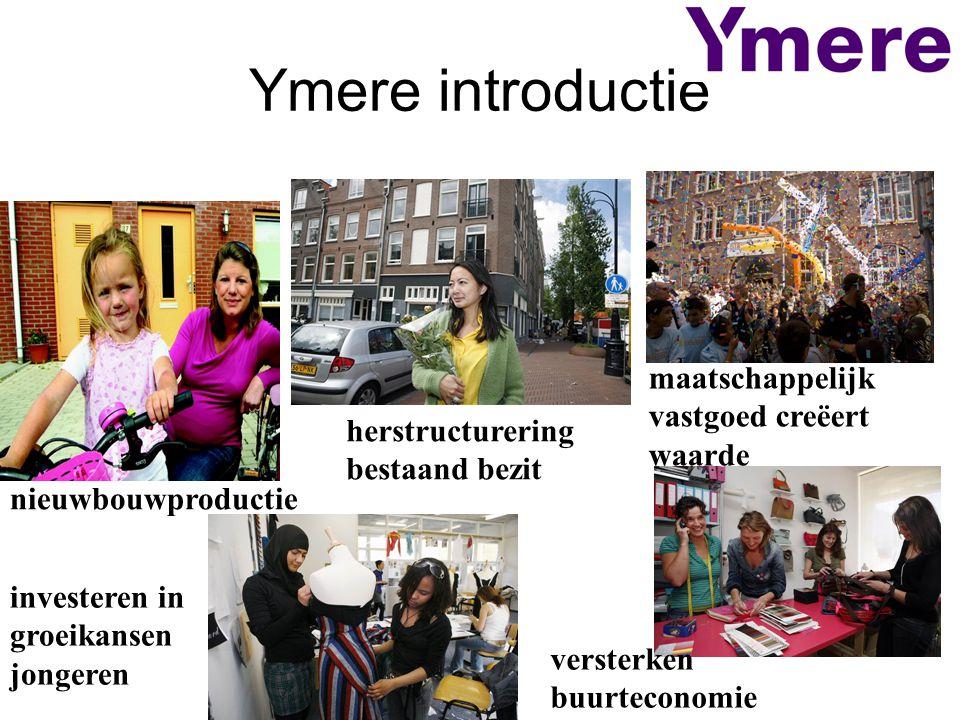 Ymere introductie nieuwbouwproductie herstructurering bestaand bezit maatschappelijk vastgoed creëert waarde investeren in groeikansen jongeren verste