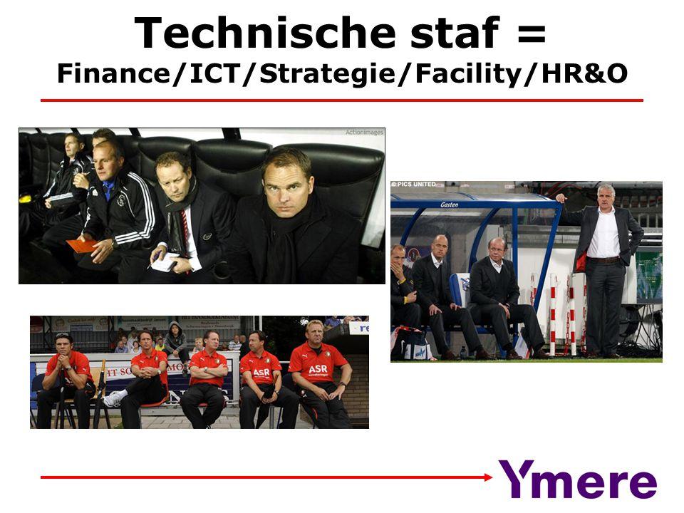 Technische staf = Finance/ICT/Strategie/Facility/HR&O