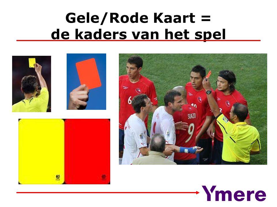 Gele/Rode Kaart = de kaders van het spel