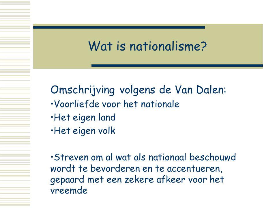 Wat zijn kenmerken van Nationalisme.