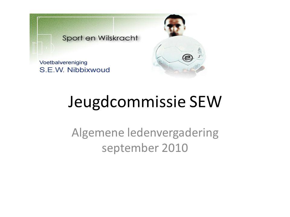 Jeugdcommissie SEW Algemene ledenvergadering september 2010