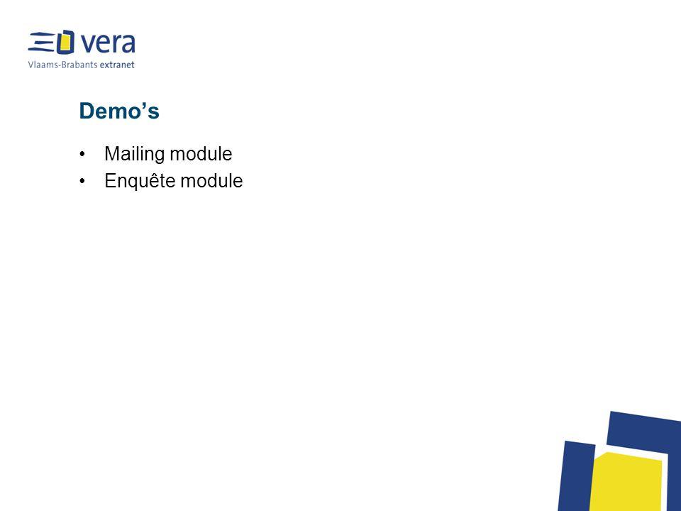 Demo's Mailing module Enquête module