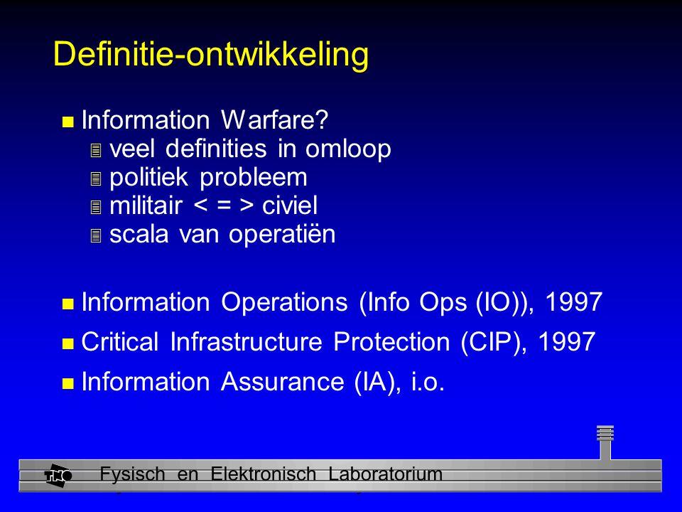 Physics and Electronics Laboratory Definitie-ontwikkeling n Information Warfare.