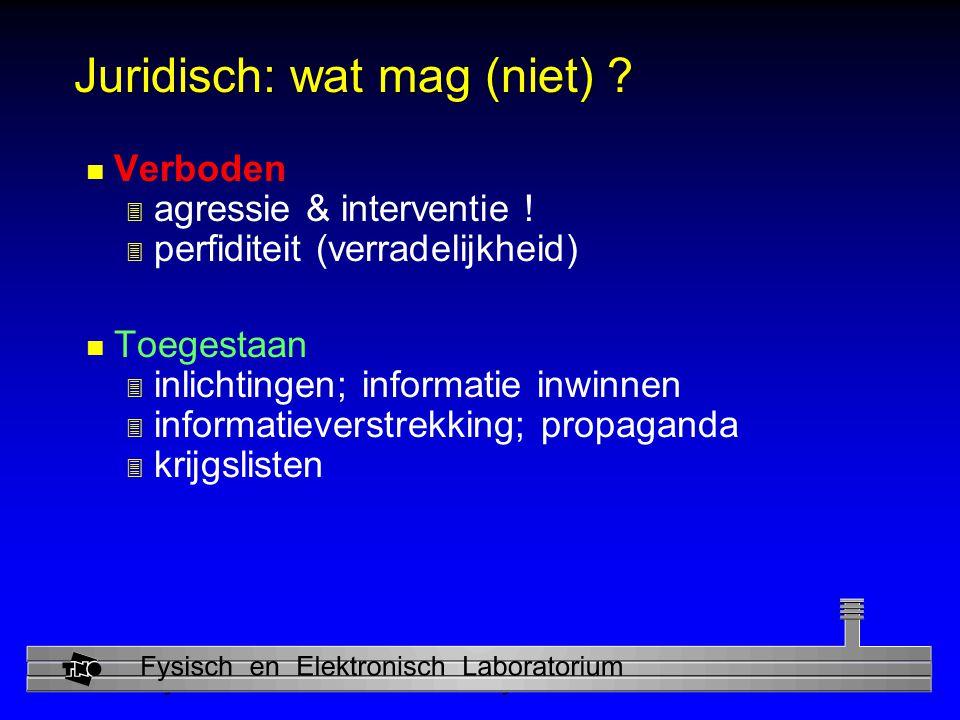 Physics and Electronics Laboratory Juridisch: wat mag (niet) .