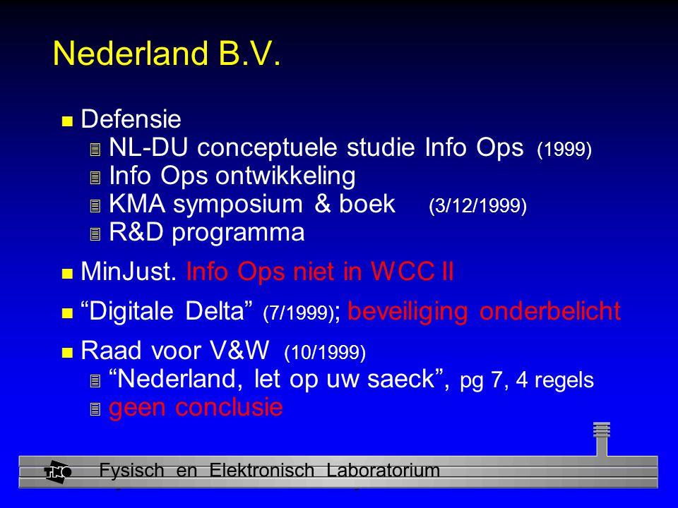 Physics and Electronics Laboratory Nederland B.V.