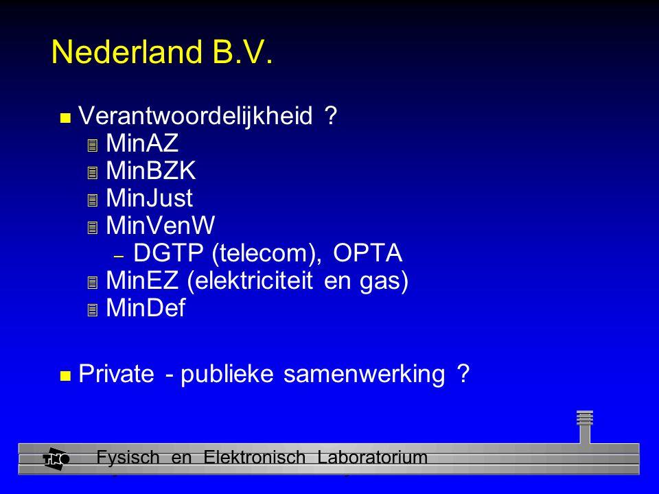 Physics and Electronics Laboratory Nederland B.V.n Verantwoordelijkheid .