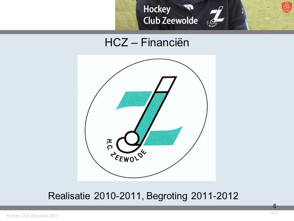 Hockey Club Zeewolde 2011 ALV 6 HCZ – Financiën Realisatie 2010-2011, Begroting 2011-2012