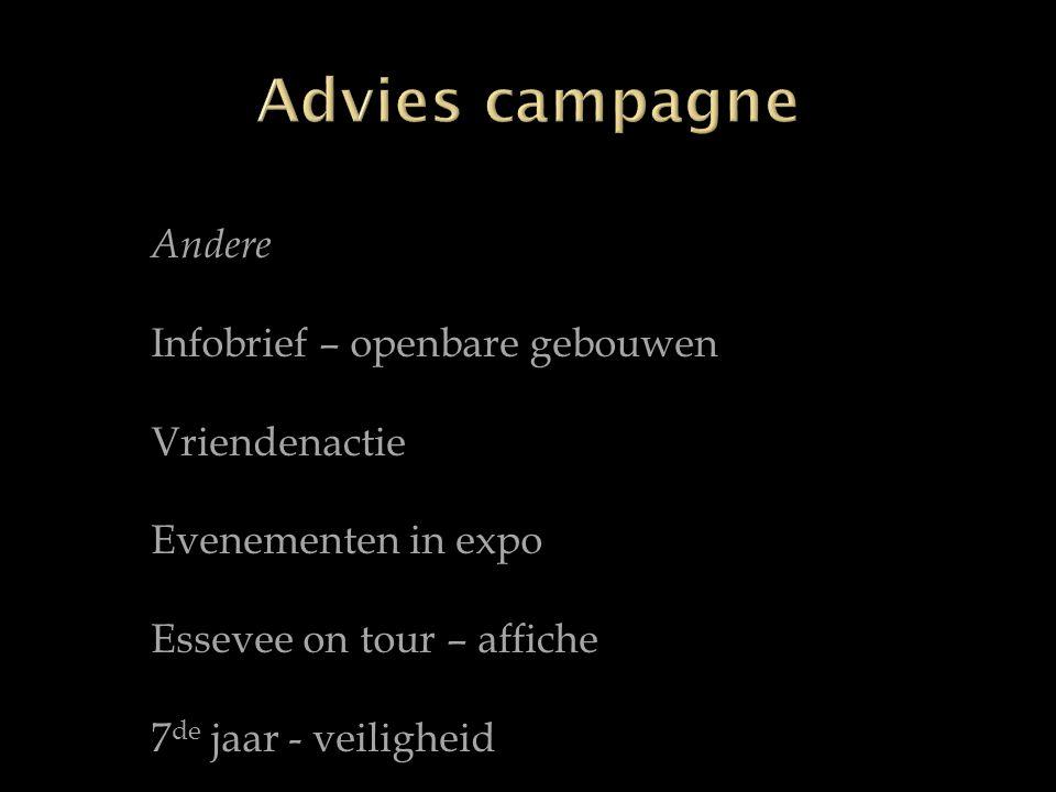 Andere Infobrief – openbare gebouwen Vriendenactie Evenementen in expo Essevee on tour – affiche 7 de jaar - veiligheid