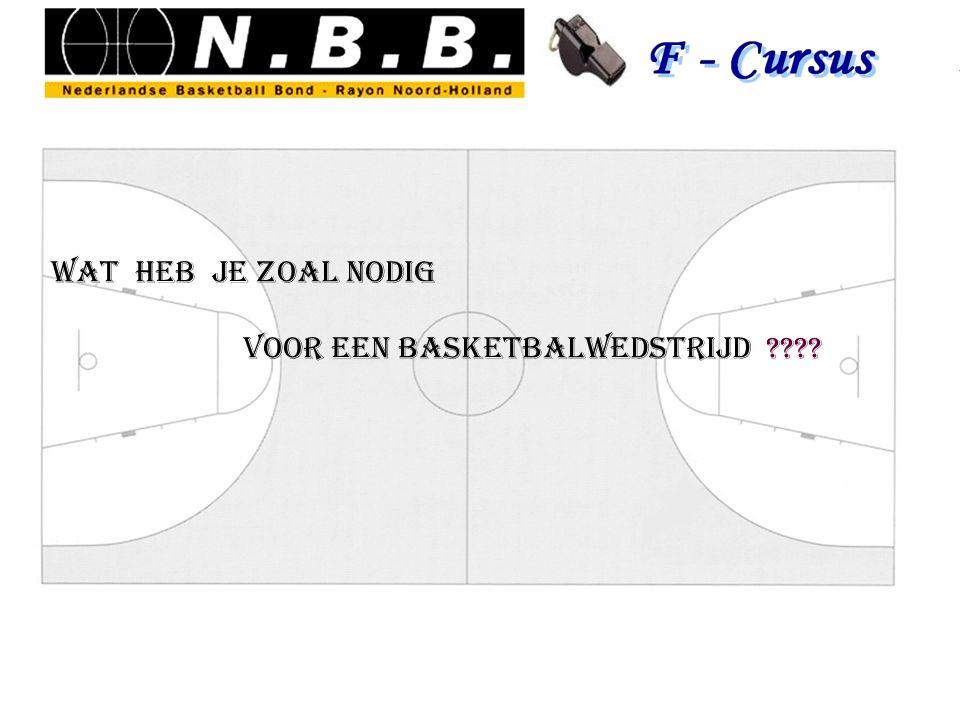 Zaal / veld spelregels, reglementen 2 teams bal baskets scheidsrechters tafel / wedstrijdklok / bel,signaal / 5 fouten bordje / (24 seconden klok time out klok / pijl jury scoresheet
