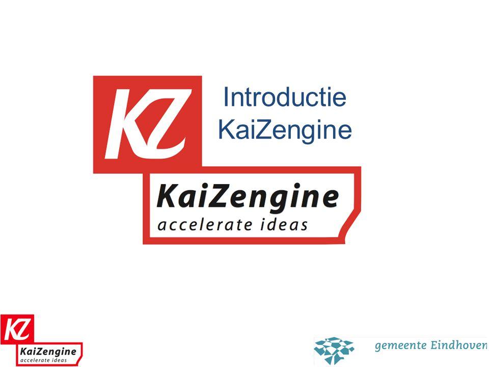 1 Missie Kaizengine Kaizengine is de katalysator die massaal beschikbare ideeen laat om zetten in significante en concrete resultaten.
