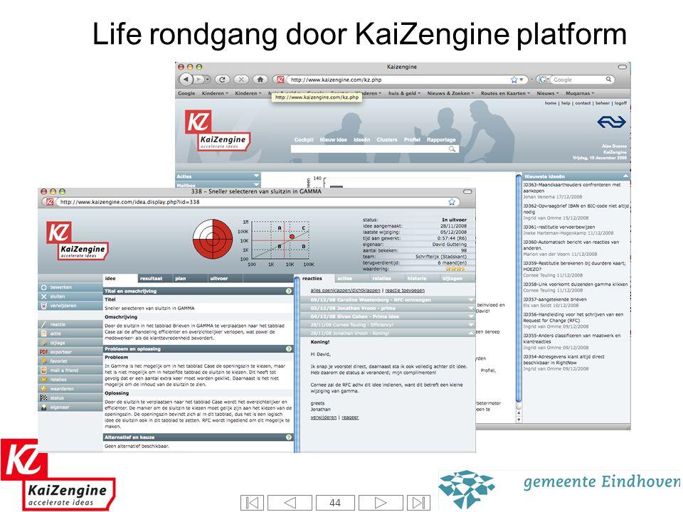 44 Introductie Kaizengine Life rondgang door KaiZengine platform 44