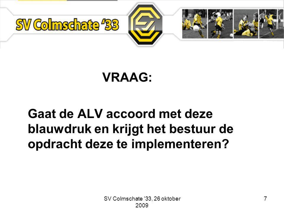 7 VRAAG: Gaat de ALV accoord met deze blauwdruk en krijgt het bestuur de opdracht deze te implementeren