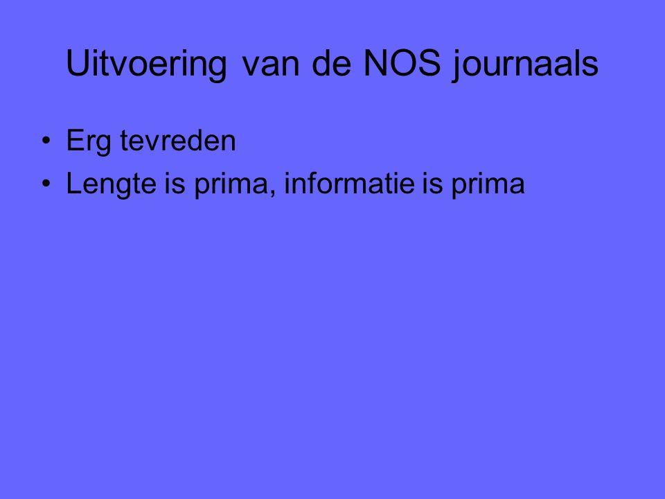 Uitvoering van de NOS journaals Erg tevreden Lengte is prima, informatie is prima