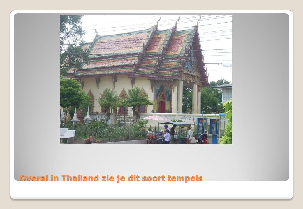 Overal in Thailand zie je dit soort tempels