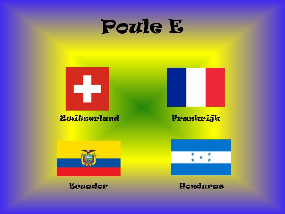 Poule E Zwitserland Honduras Ecuador Frankrijk