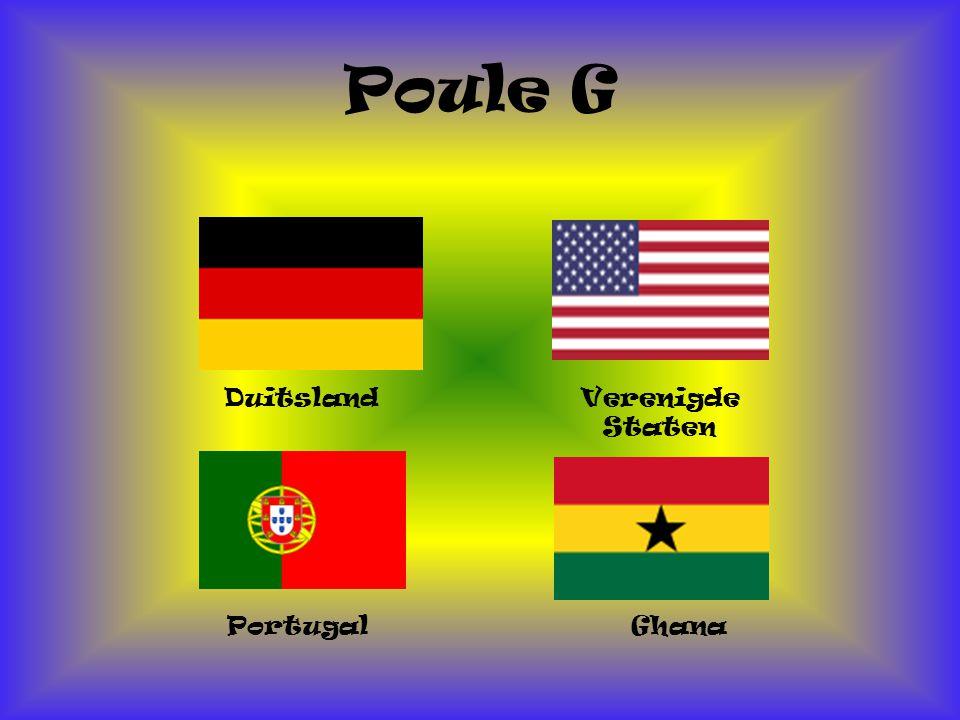Poule G Duitsland Ghana Portugal Verenigde Staten