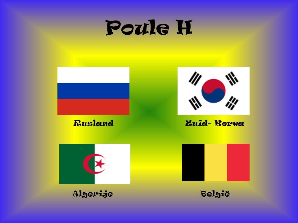 Poule H Rusland België Algerije Zuid- Korea