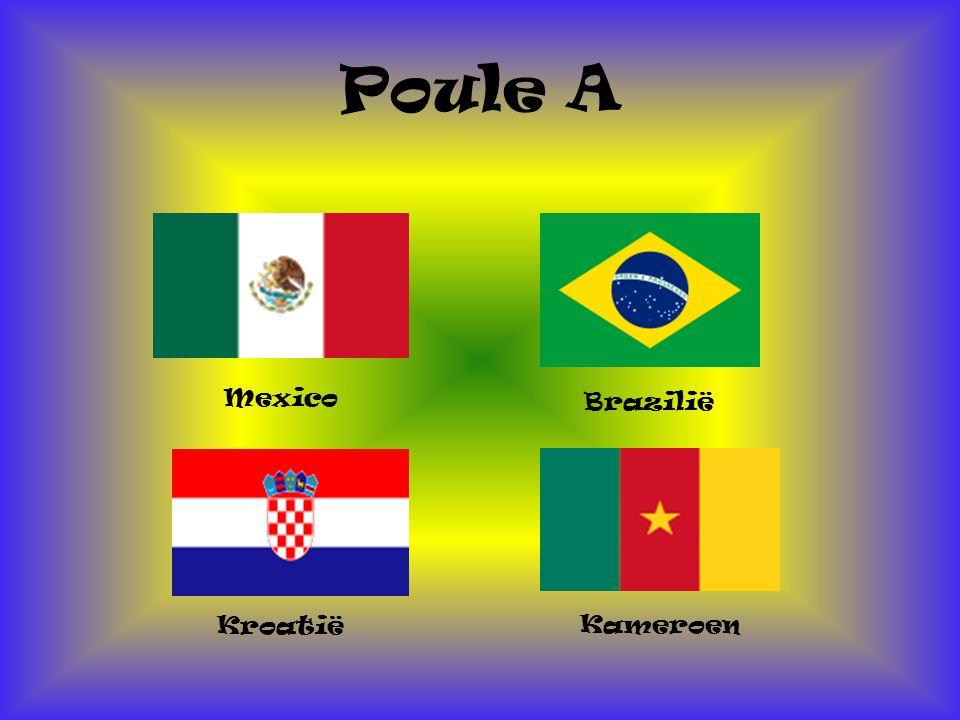 Poule A Mexico Kameroen Kroatië Brazilië