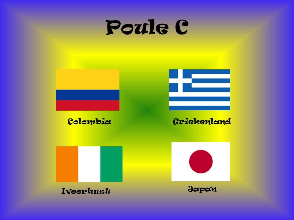 Poule C Colombia Japan Ivoorkust Griekenland
