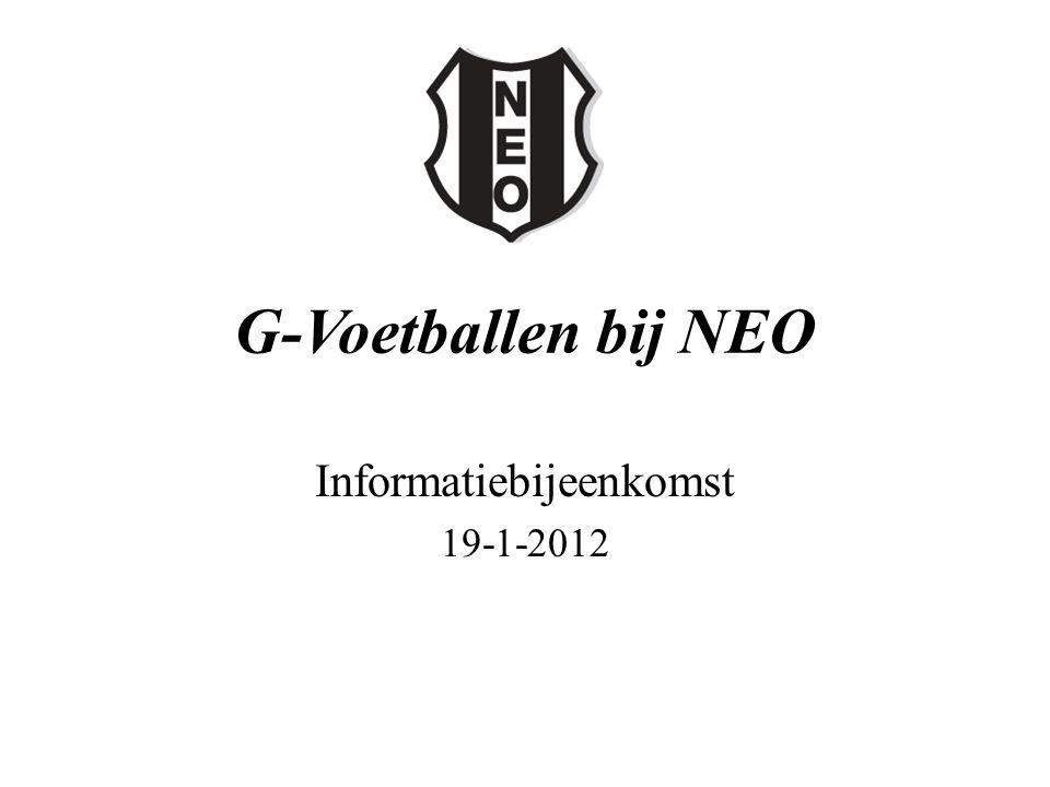 G-Voetballen bij NEO Informatiebijeenkomst 19-1-2012