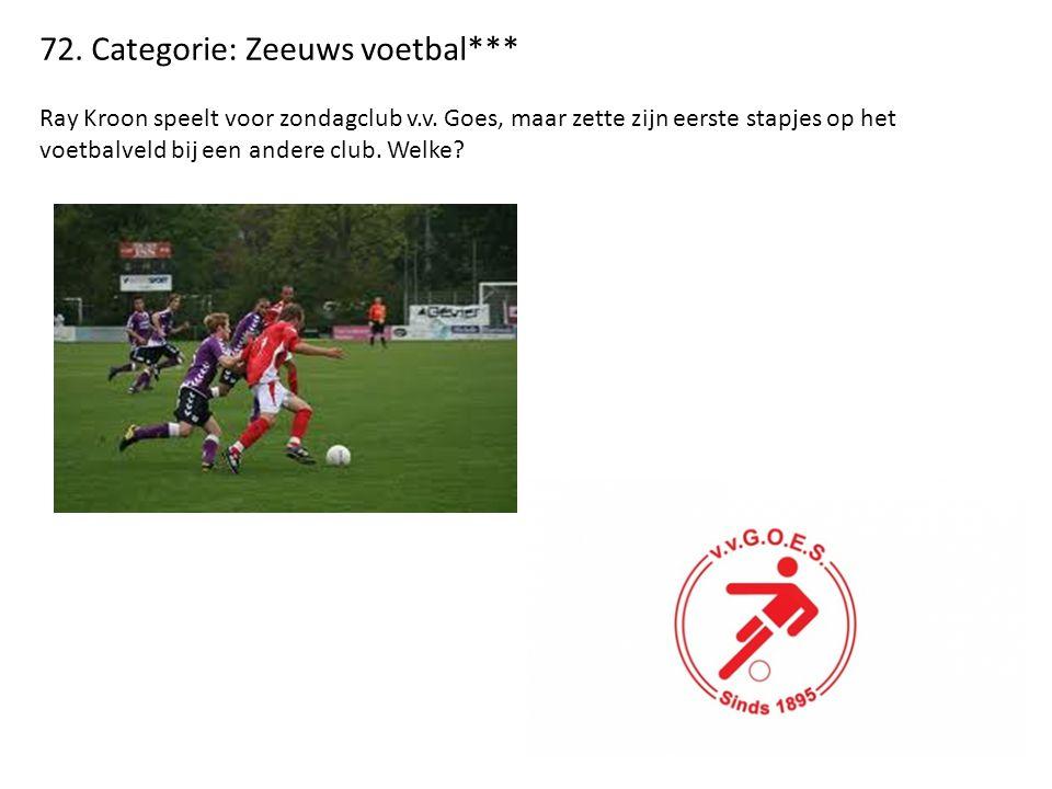 72. Categorie: Zeeuws voetbal*** Ray Kroon speelt voor zondagclub v.v.