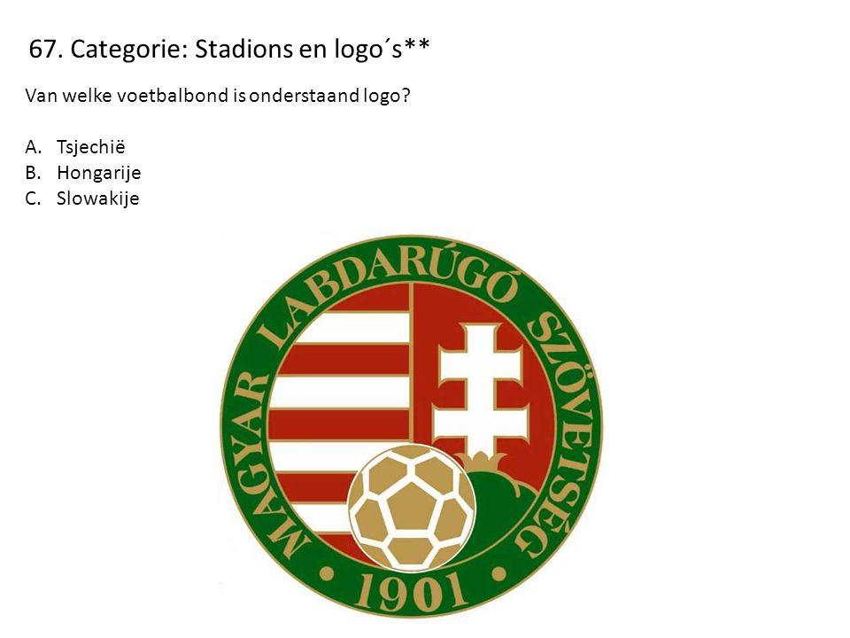 67. Categorie: Stadions en logo´s** Van welke voetbalbond is onderstaand logo.