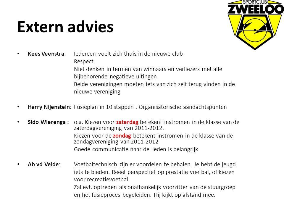 Extern advies Kees Veenstra: Iedereen voelt zich thuis in de nieuwe club Respect Niet denken in termen van winnaars en verliezers met alle bijbehorend