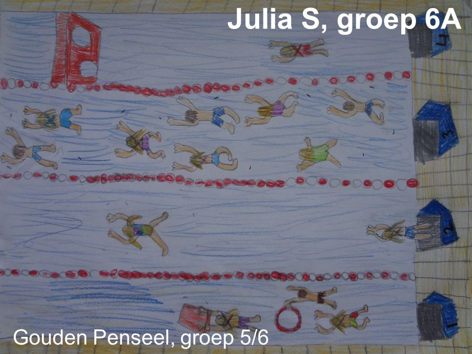 Zilveren Penseel groep 5/6 Julia W g r o e p 6 B