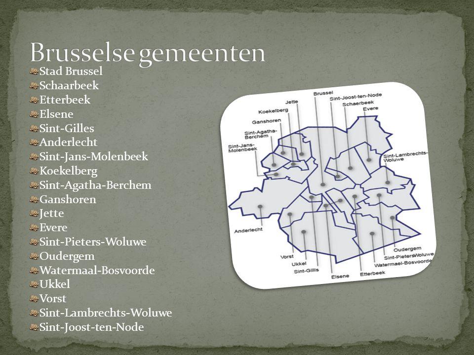 Stad Brussel Schaarbeek Etterbeek Elsene Sint-Gilles Anderlecht Sint-Jans-Molenbeek Koekelberg Sint-Agatha-Berchem Ganshoren Jette Evere Sint-Pieters-