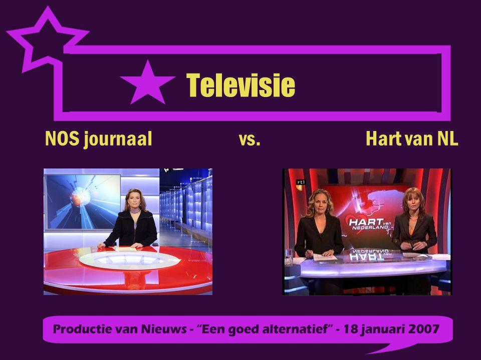 Televisie NOS journaal vs. Hart van NL