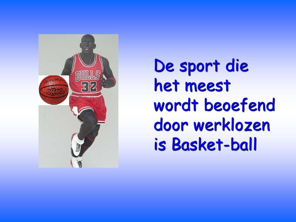 De sport die het meest wordt beoefend door werklozen is Basket-ball