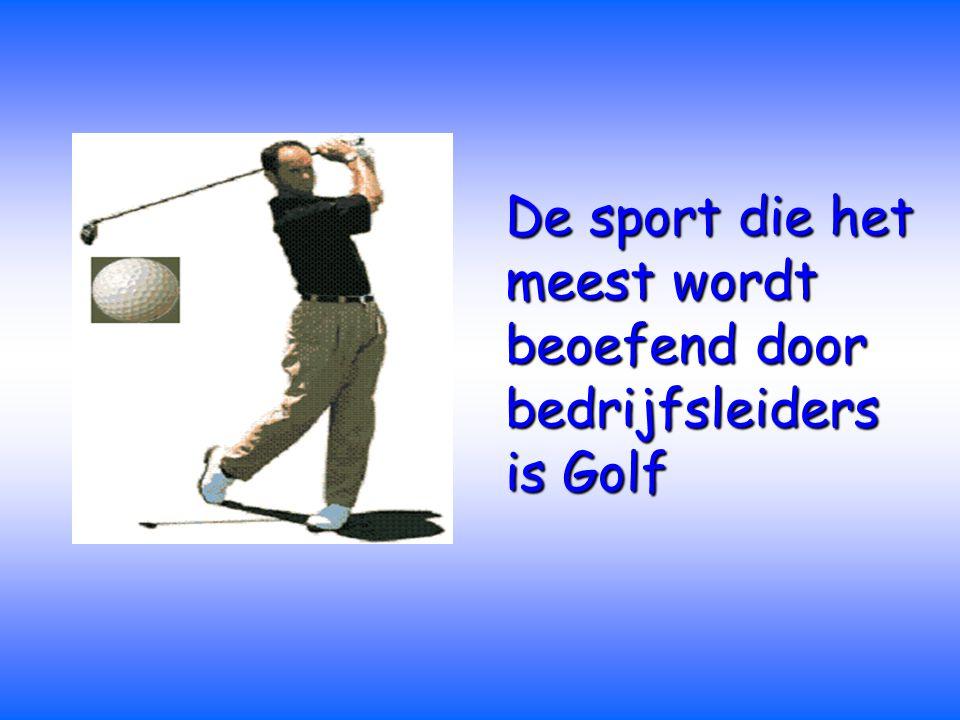De sport die het meest wordt beoefend door bedrijfsleiders is Golf