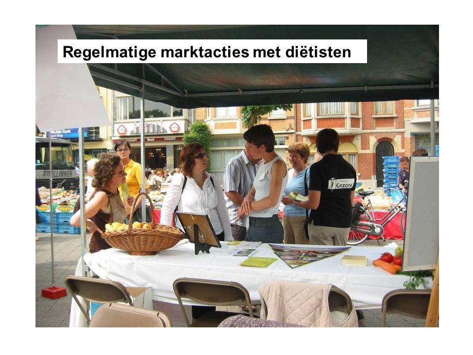 Regelmatige marktacties met diëtisten