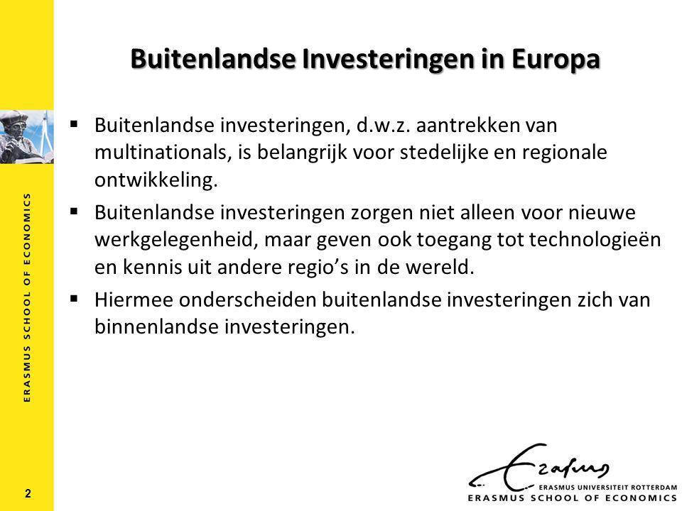 Buitenlandse Investeringen in Europa 2  Buitenlandse investeringen, d.w.z.