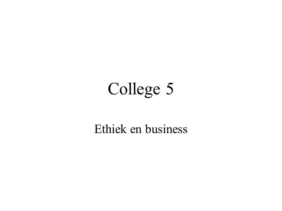 College 5 Ethiek en business