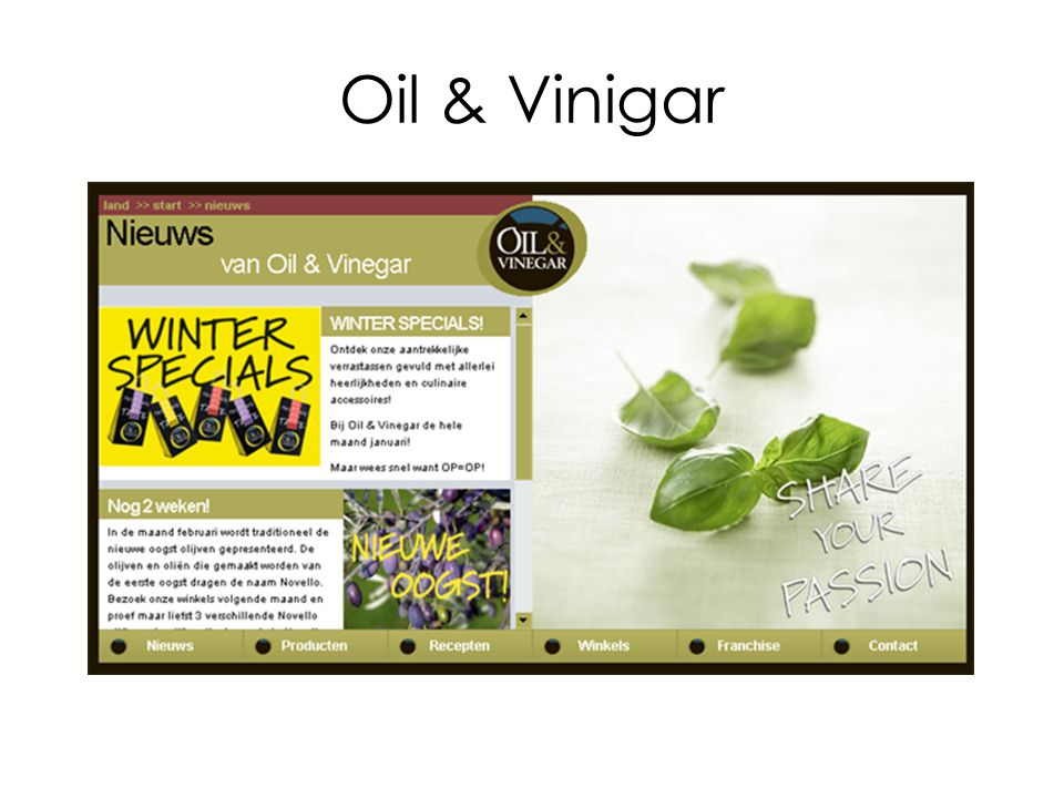 Oil & Vinigar