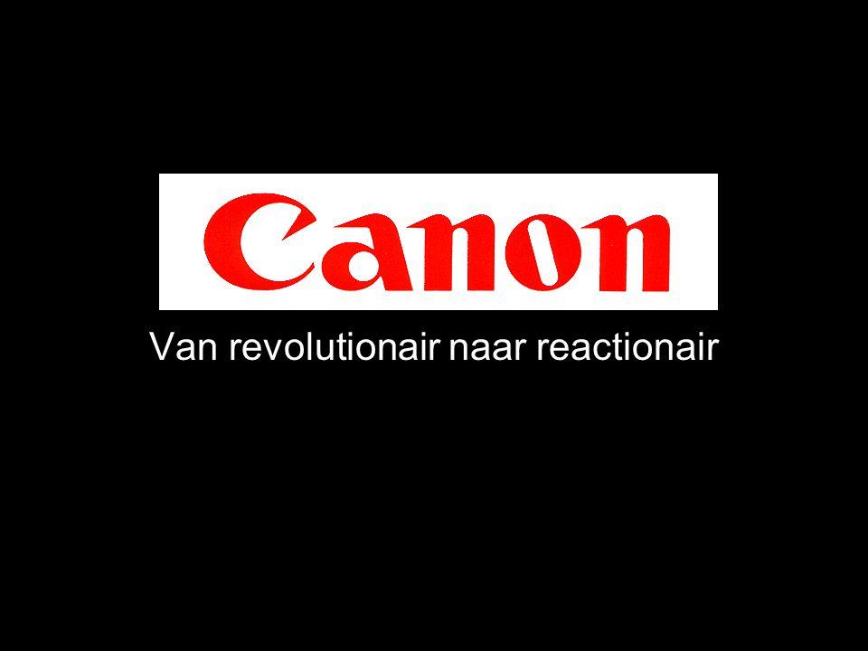 Canon Van revolutionair naar reactionair