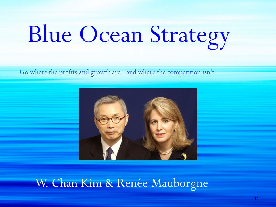 Blue Ocean Strategy Go where the profits and growth are - and where the competition isn't W. Chan Kim & Renée Mauborgne 15