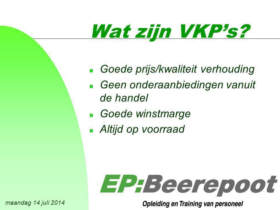 maandag 14 juli 2014 Wat zijn VKP's.