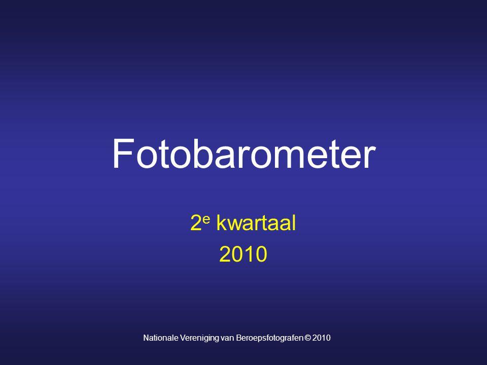 Fotobarometer 2 e kwartaal 2010 Nationale Vereniging van Beroepsfotografen © 2010