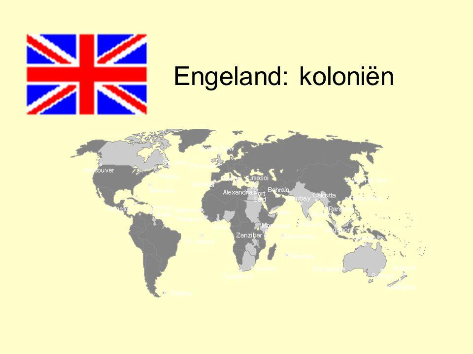 Engeland: koloniën