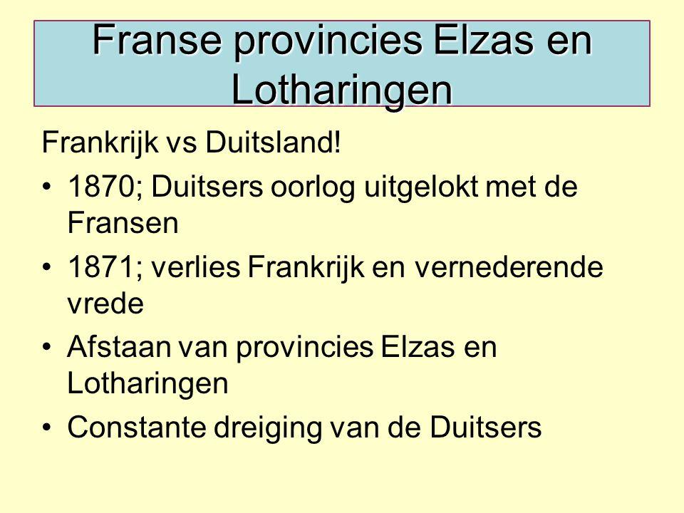 Franse provincies Elzas en Lotharingen Frankrijk vs Duitsland.