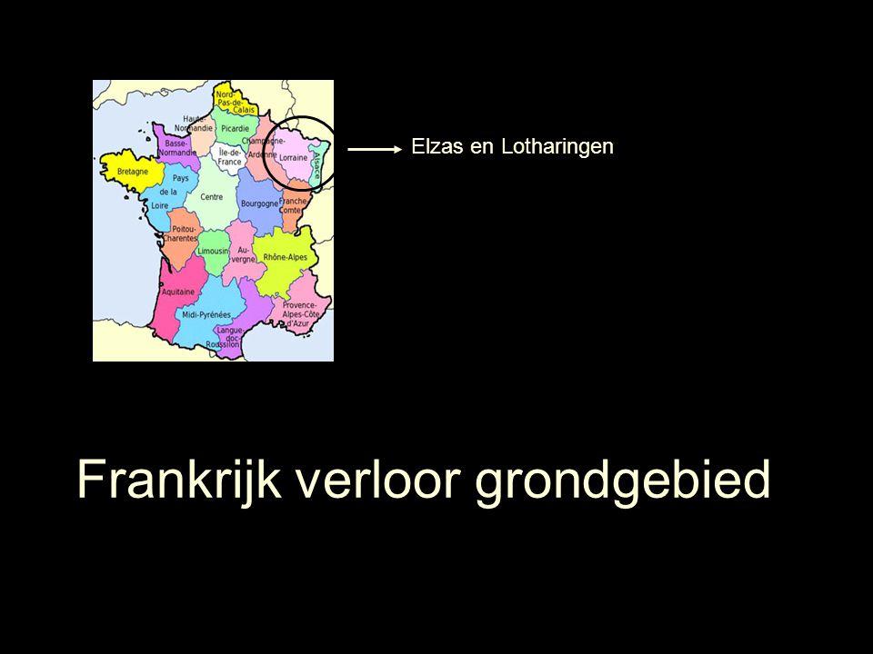 Elzas en Lotharingen Frankrijk verloor grondgebied