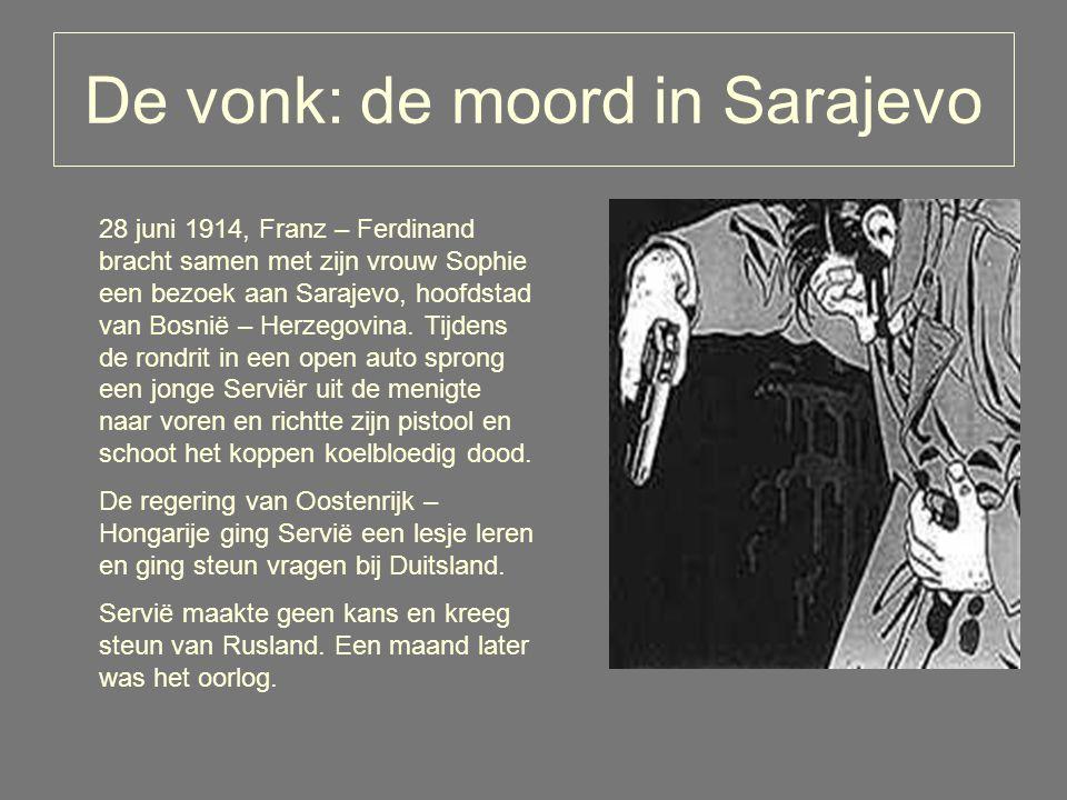De vonk: de moord in Sarajevo 28 juni 1914, Franz – Ferdinand bracht samen met zijn vrouw Sophie een bezoek aan Sarajevo, hoofdstad van Bosnië – Herzegovina.