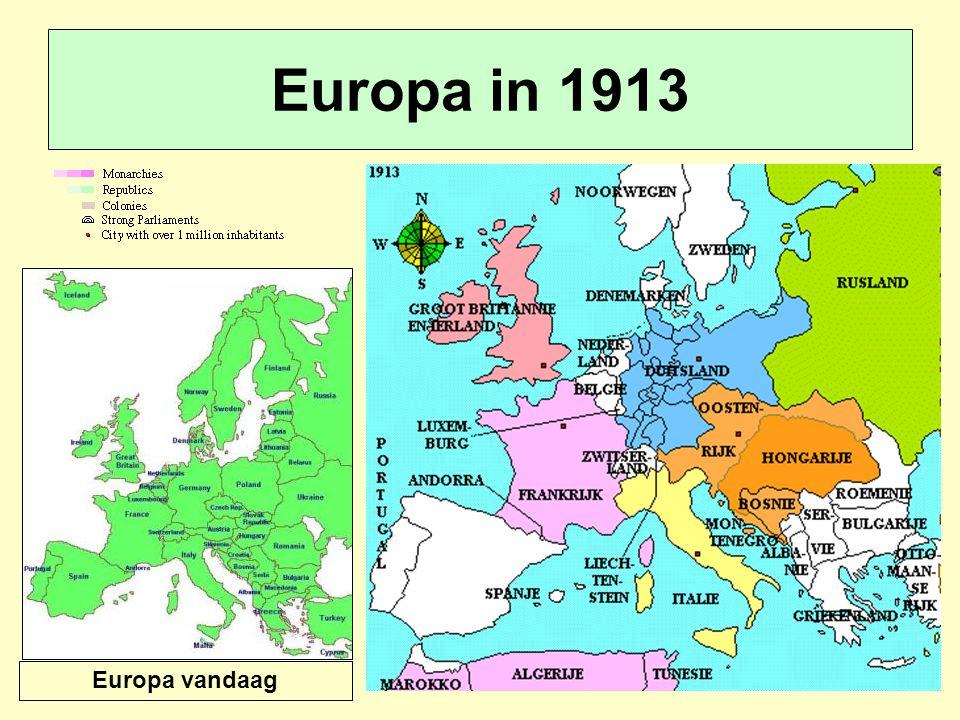 Europa in 1913 Europa vandaag