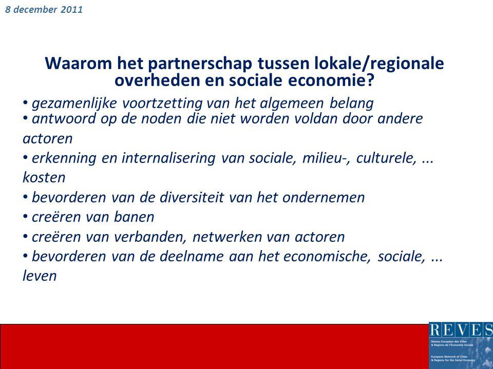 Waarom het partnerschap tussen lokale/regionale overheden en sociale economie.