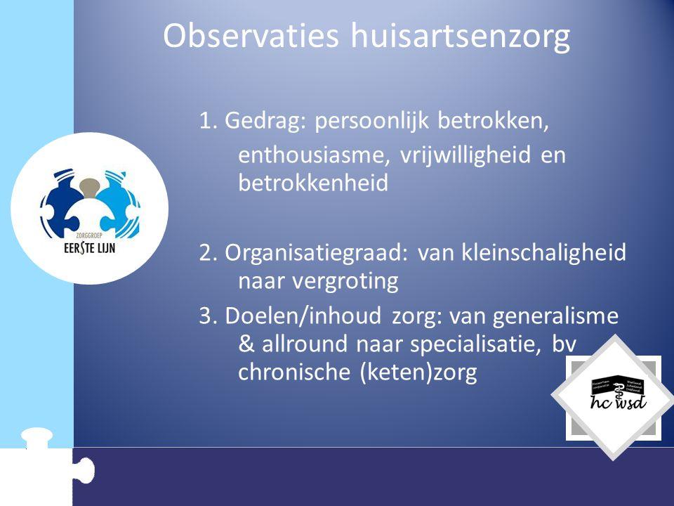 Dus…… Door ontwikkeling van de huisartsenzorg/ huisartsenorganisatie Reputatietafel 22 januari 2009